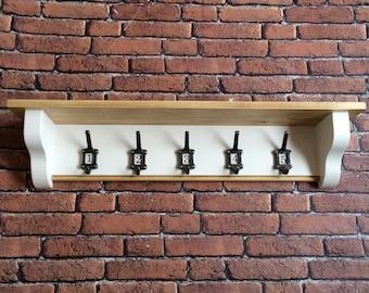 Corbel shelf coat rack