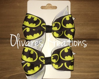 Batman Inspired Bow Set