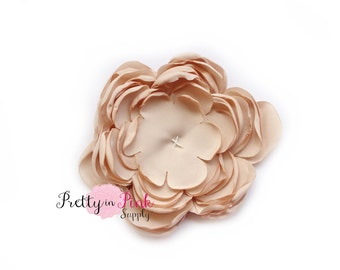 Taupe Chrysanthemum Flower No Center- You Choose Quantity- Diy Headband Supplies- Flower- Wholesale- Supply Shop- DIY Flower Headband Supply