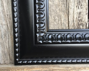 8x10 Black picture frame,Ornate,Black, Vintage Chic, Baroque, wedding frame, wall gallery frames, Black frames N502 (los angeles)