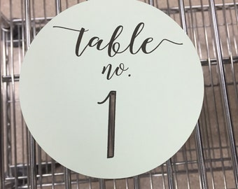 Cut out table numbers, wedding table numbers, table numbers, laser cut, table markers, wedding table decor