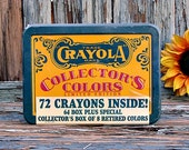 1991 CRAYOLA Collectors Limited Edition Tin & 72 Crayons Inside UnOpened