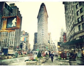 Flatiron Building, Photography, New York City, Chelsea, NYC, Architecture, Manhattan, FREE SHIPPING!