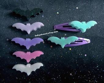 Creepy Cute Bat Hair Clips- -Kawaii- Gothic- Pastel Goth- Gothic Lolita- Sweet Lolita-JFashion- Harajuku- Fairy Kei- Creepy Cute