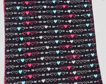 """12x16"""" Heart Burp Cloth"""