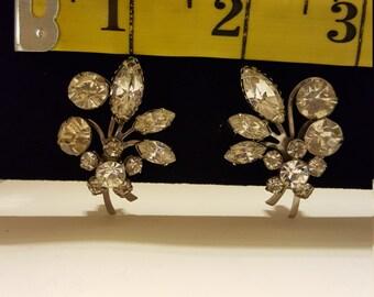 Beautiful Beau Jewel Silver Tone Clip on Earrings