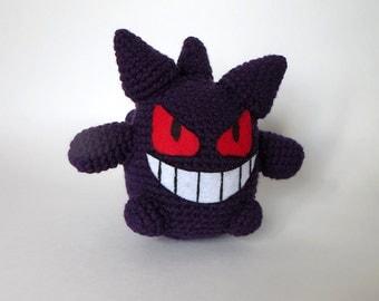 Crochet Gengar Amigurumi Pokemon - Ready to Ship