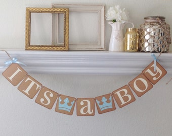 It's a Boy Banner, Baby Shower Banner, Little prince banner