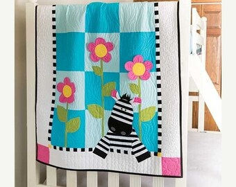 SALE Zebra Crib Quilt, Gender Neutral Nursery, Baby Girl Crib Quilt, Baby Boy Crib Quilt, Jungle Crib QUilt, Jungle Nursery, Custom Colors