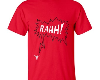 Funny monster t-shirt, halloween gift, funny tee, graphic shirt, boyfriend present, RAhh!