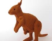 Felt Australian Kangaroo & Echidna Sewing Pattern PDF - Handmade Felt Animals from 100% wool felt.