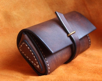 Hand Stitched Vintage Leather Glasses Case sunglasses cover