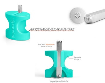 3mm, 6mm or both ImpressArt Metal Stamp JiG and Heart Outline Metal Stamp, Metal Stamping Tools, Metal Stamp Jig, Jewelry stamping jig