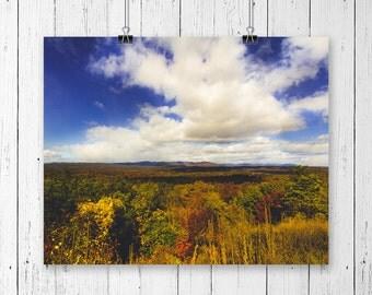 Landscape Photography Blue Sky Horizons Cloud Print Inspirational Wall Art Nature Print Office Wall Art Mountain Art Cabin Wall Decor