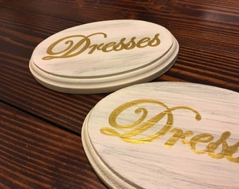 """Adorable Dresses Sign (Ivory with gold script)(5x7"""")"""