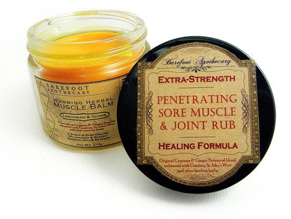 Warming Cayenne & Ginger Penetrating Muscle Rub- Extra Strength, 2 oz With Calendula, St. John's Wort, Comfrey, Calendula, Neem.