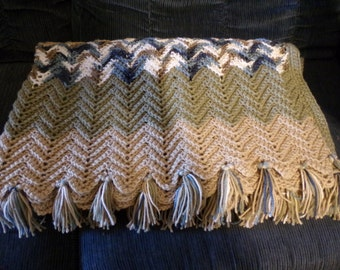 Handmade Chevron Pattern Throw Blanket