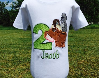 TARZAN-Personalized Embroidered Birthday T-shirt