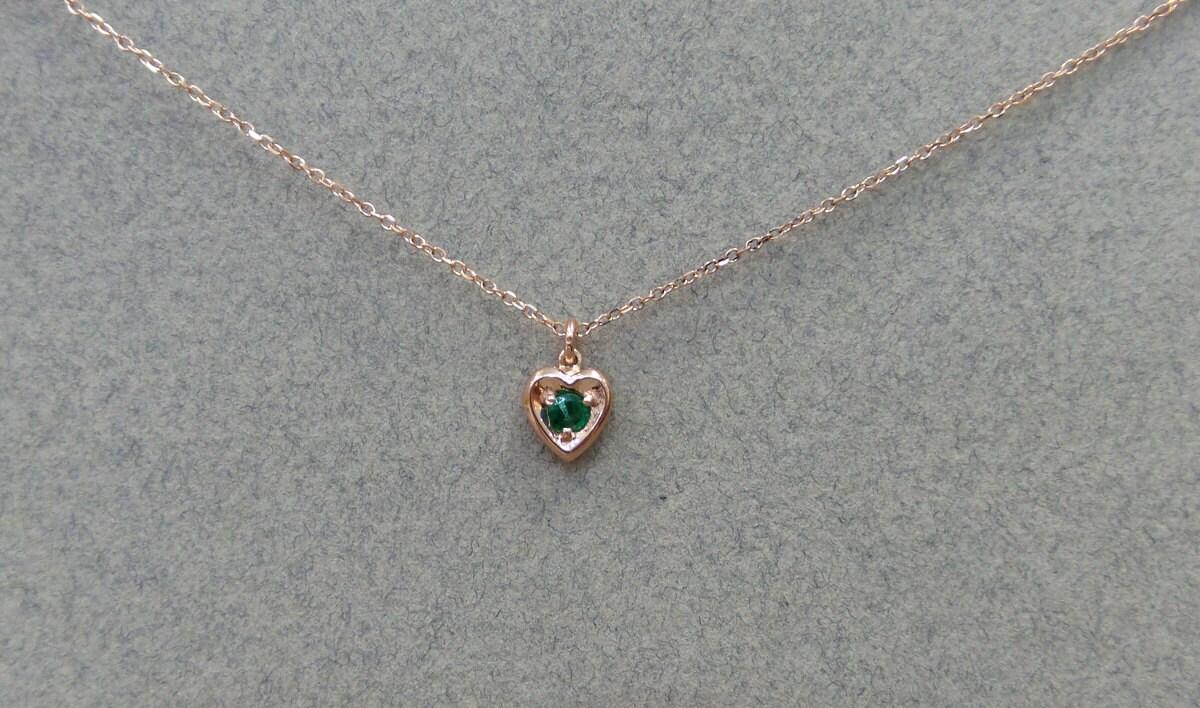 Emerald heart pendant 14k rose gold gold 14k emerald heart emerald heart necklace gallery photo gallery photo gallery photo gallery photo gallery photo aloadofball Images