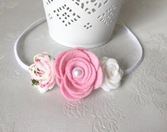 Rose flower stretch headband.