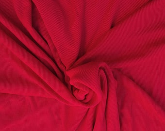 Cardinal 2x2 Rib Stretch Knit Fabric Rayon Spandex  by the Yard 4/16