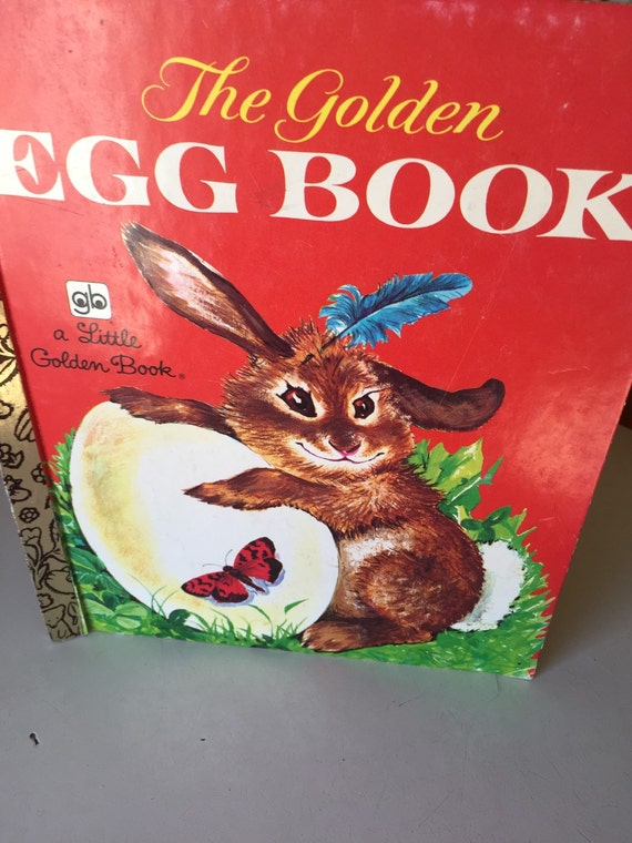 Vintage Egg Book A Little Golden Book Bunny By