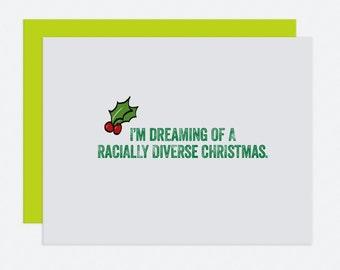 Racially Diverse - Christmas Card