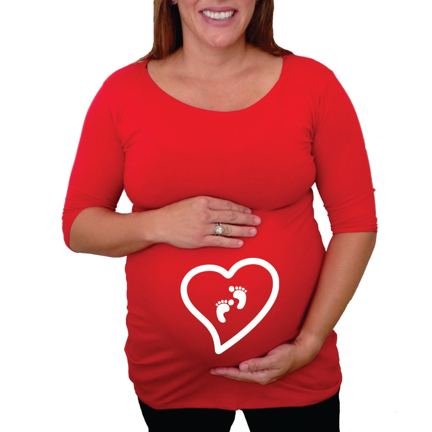 Valentine's day maternity Shirt with cute heart and
