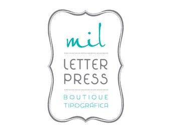 Letterpress Letterhead Paper (100 pcs)