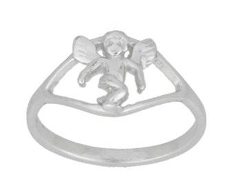 Cupid Angel Love Ring .925 Sterling Silver