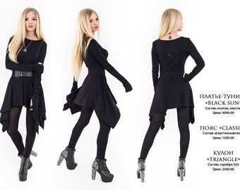 "Dress-tunic ""Black Sun"""