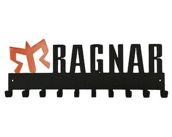 Medal Rack - Official Ragnar Running Medal Holder by SportHooks 2 Color: Orange and Black Design. Medal Hanger, Medal Display,
