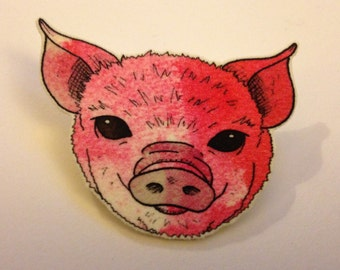 Piggy Brooch