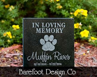Granite Personalized Pet Memorial Stone