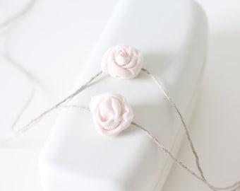Newborn rose -  Props headband - Baby girl headband - Newborn hair - Hair rose - Newborn baby girl - Props headband - Newborn tieback -White