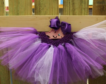 Purple and Lavender tutu and bow