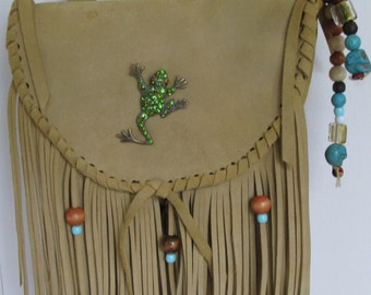 leather bag boho,hippie