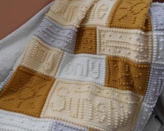 SUNSHINE finished crocheted blanket
