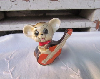 Cute Little Mouse with a Guitar