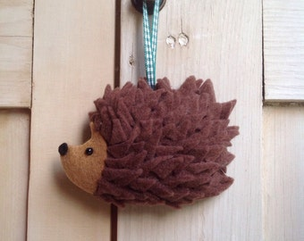 Hanging Felt Hedgehog