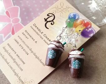 Starbucks inspired Frappuccino Earrings