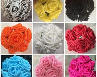 Wholesale Flowers Artificial Roses Bulk For Wedding Decoration Centerpieces Bridal Flowers 100 Heads Artificial Flowers Soft Foam Roses LNPE