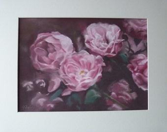 Old Roses/ pastel painting