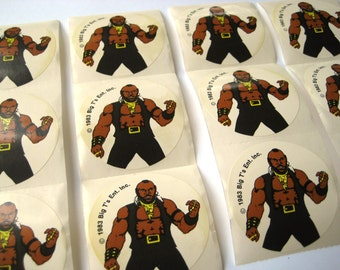 Vintage 1980's MR. T Scratch and Sniff Stickers Lot