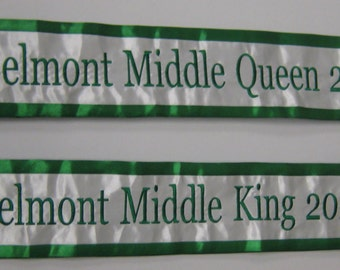 Custom Beauty Pageant Sashes with Crown or Image