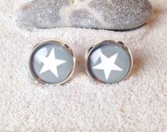 Studs Star gray