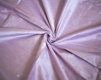 Lavender Silk Dupioni Fabric, Light Purple Silk Fabric by the Half Yard