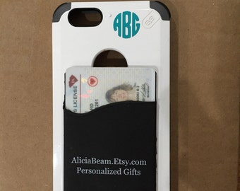 Card cling for your cell phone Plus your little monogram - FREE shipping