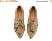 LAST SIZES SALE Lara shoes, Grey Noodle, handmade, Hand Printed, flats, leather shoes, by Tamar Shalem on etsy