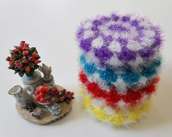 Crochet / Scrubbers, set of four